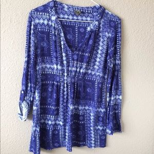 Anthropologie One September boho tunic top paisley
